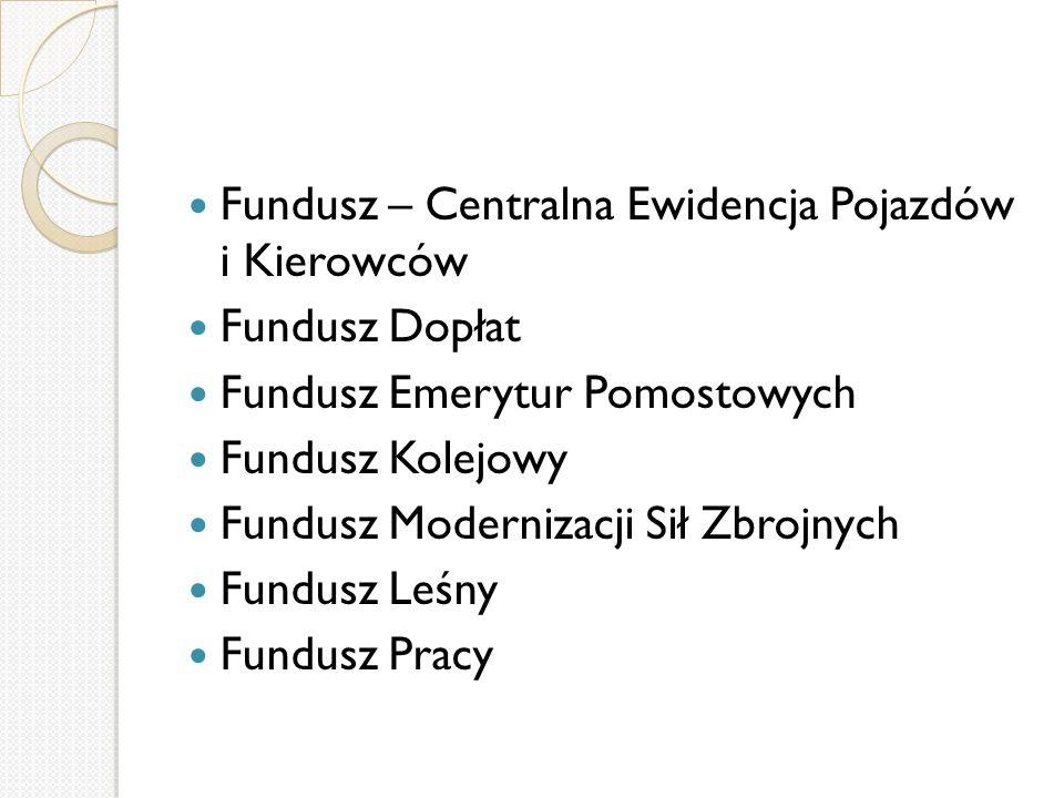 Fundusz – Centralna Ewidencja Pojazdów i Kierowców