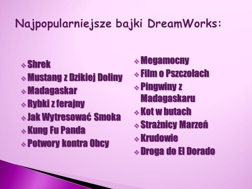 Najpopularniejsze bajki DreamWorks: