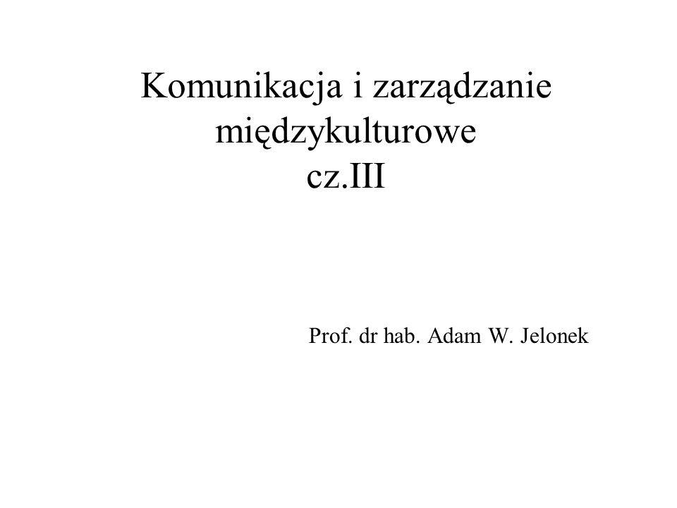 Komunikacja i zarządzanie międzykulturowe cz.III