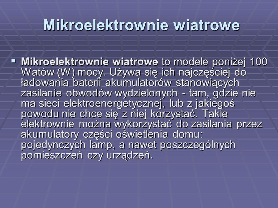 Mikroelektrownie wiatrowe