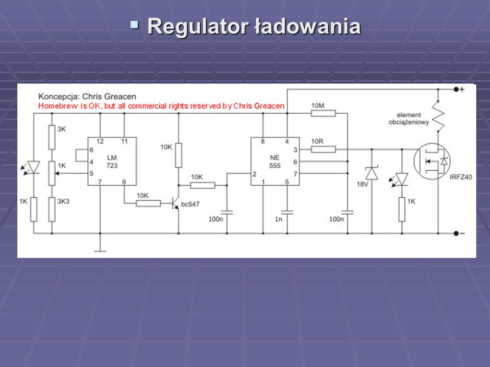 Regulator ładowania
