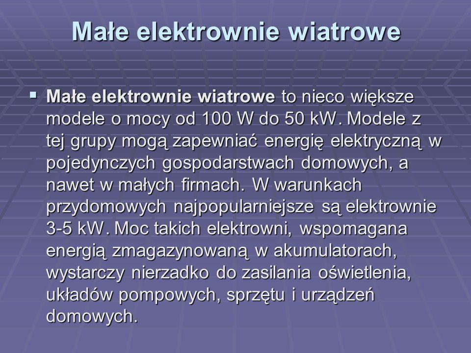 Małe elektrownie wiatrowe
