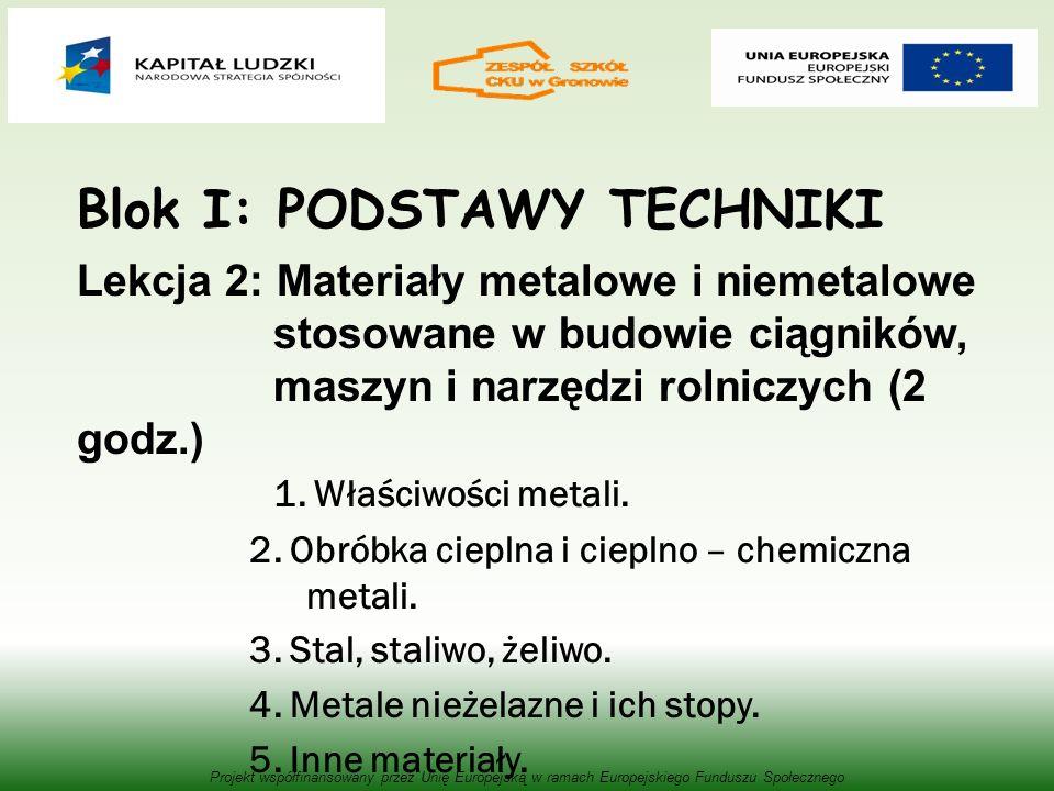 Blok I: PODSTAWY TECHNIKI