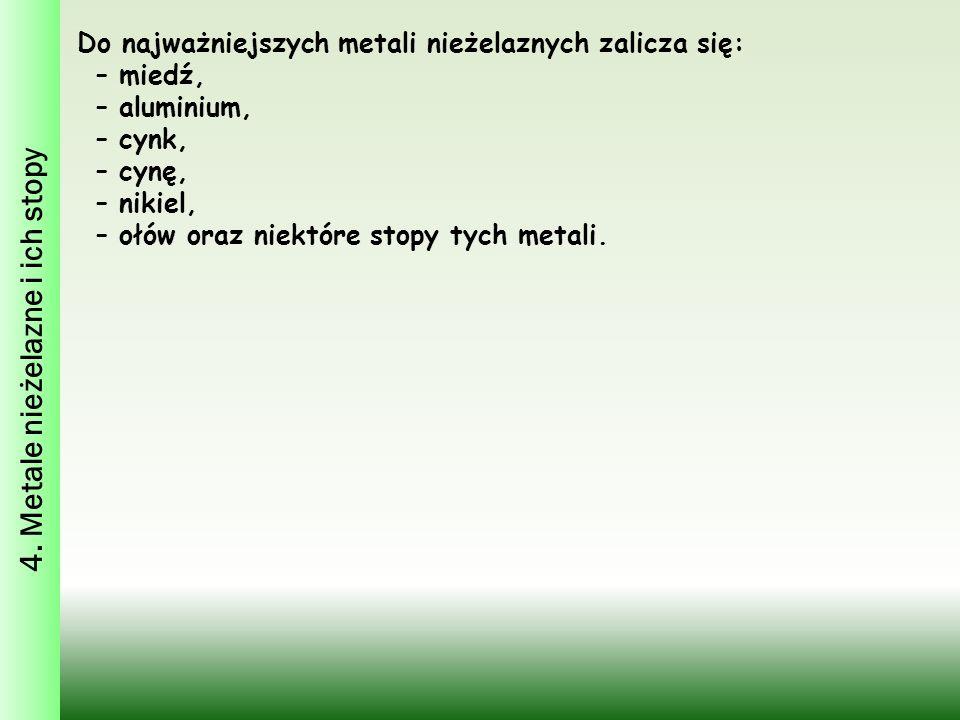 4. Metale nieżelazne i ich stopy