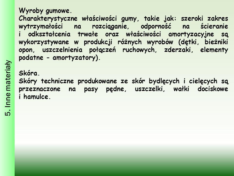 5. Inne materiały Wyroby gumowe.