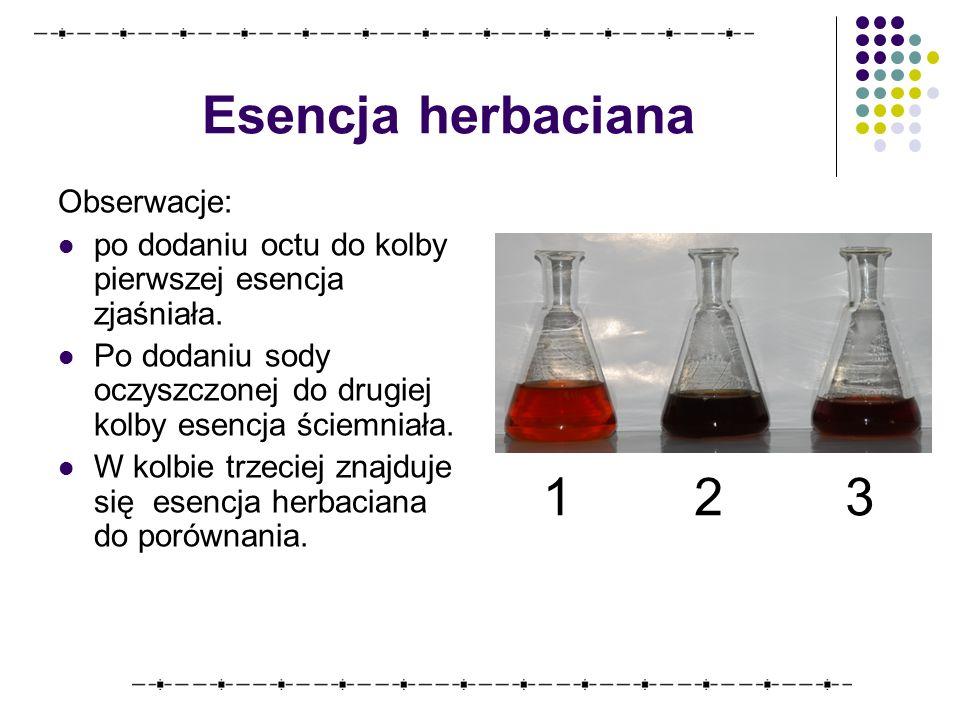 Esencja herbaciana 1 2 3 Obserwacje: