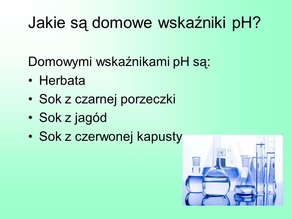 Jakie są domowe wskaźniki pH