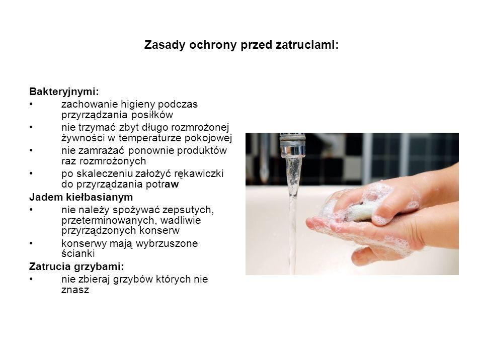 Zasady ochrony przed zatruciami: