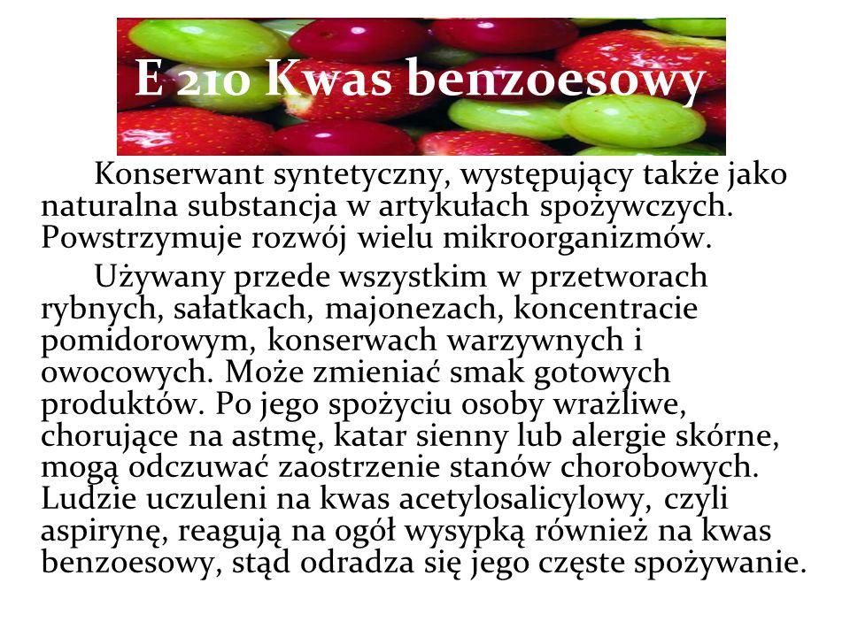 E 210 Kwas benzoesowy