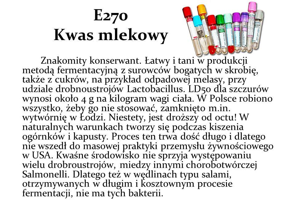 E270 Kwas mlekowy