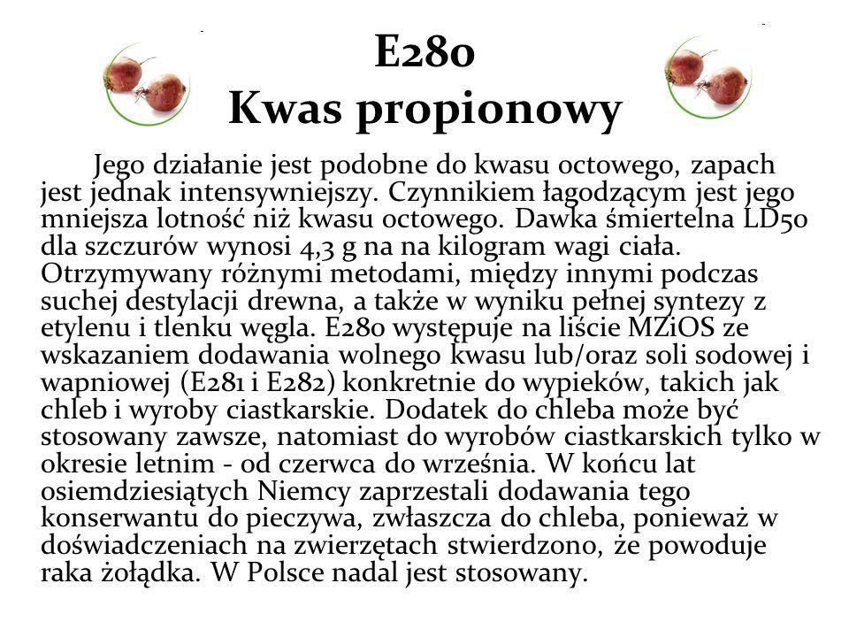 E280 Kwas propionowy