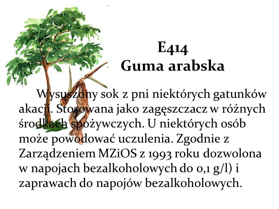 E414 Guma arabska