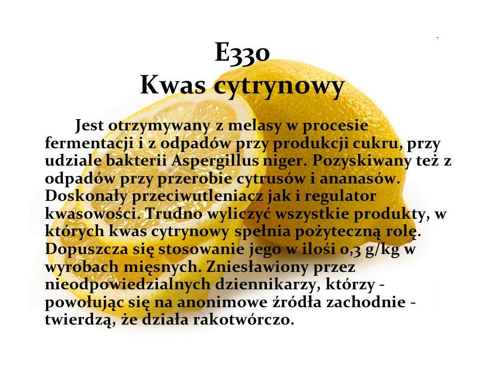 E330 Kwas cytrynowy