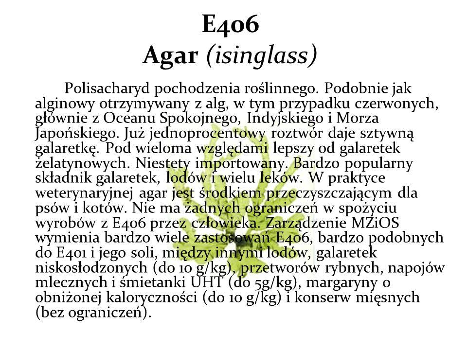 E406 Agar (isinglass)