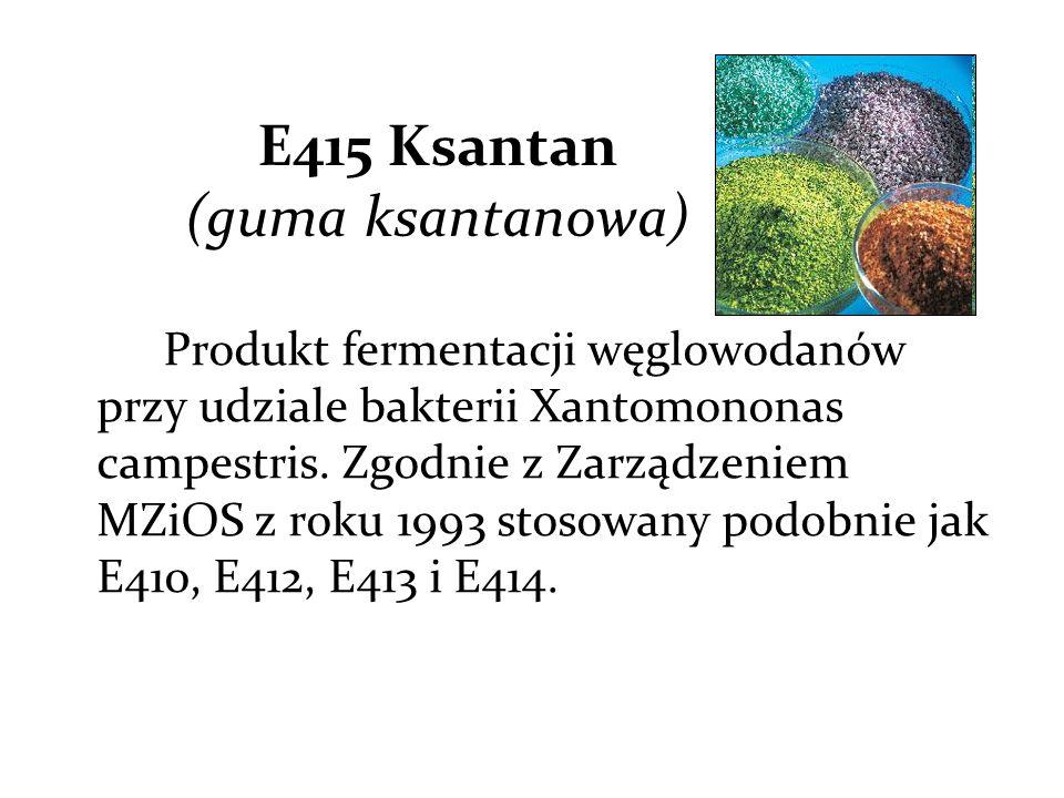 E415 Ksantan (guma ksantanowa)