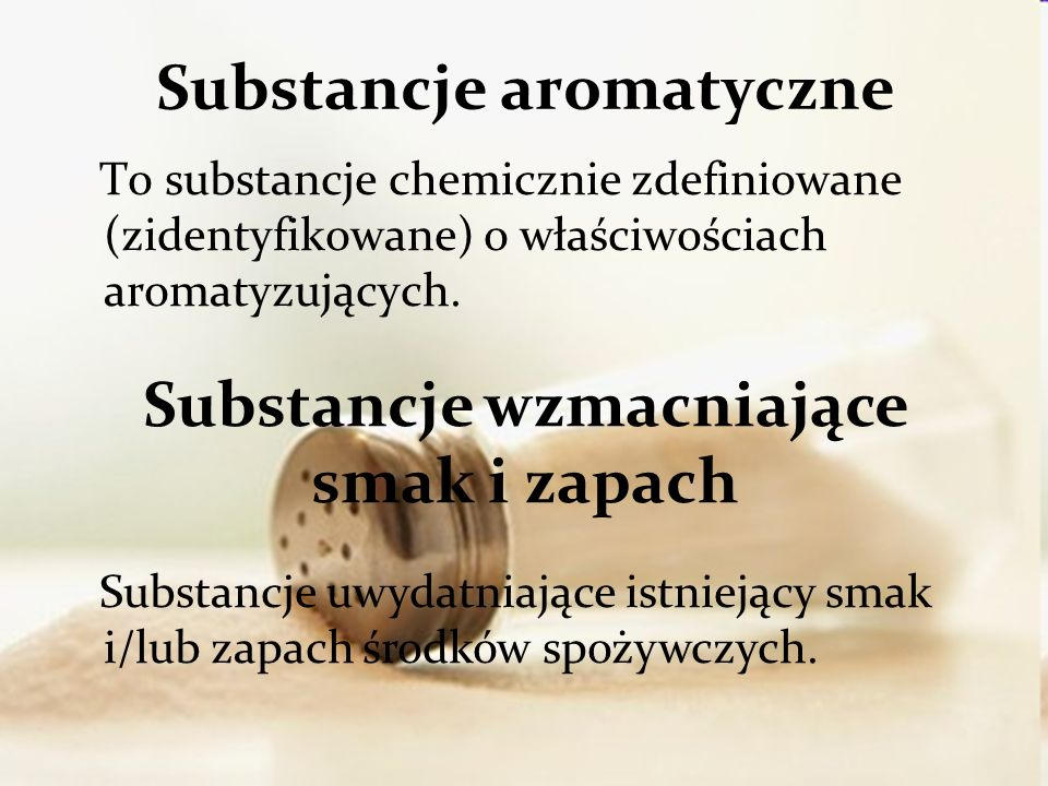 Substancje aromatyczne