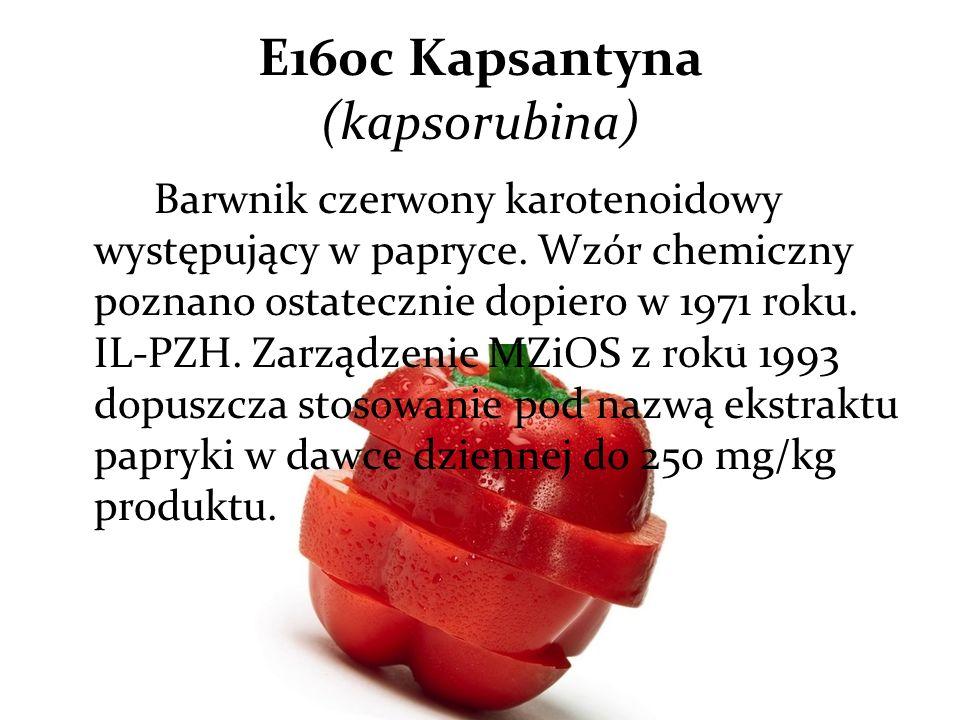 E160c Kapsantyna (kapsorubina)