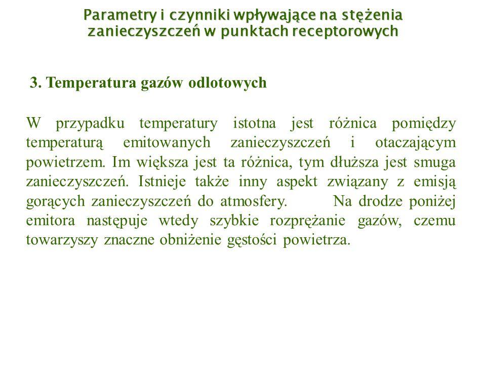 3. Temperatura gazów odlotowych