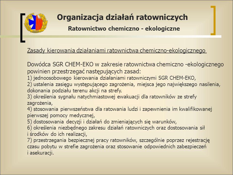 Zasady kierowania działaniami ratownictwa chemiczno-ekologicznego