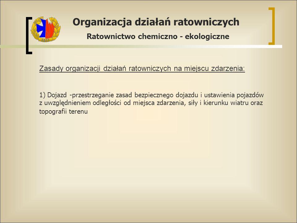Zasady organizacji działań ratowniczych na miejscu zdarzenia: