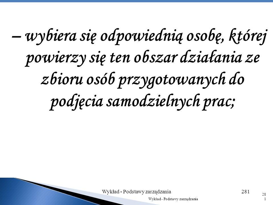 Wykład - Podstawy zarządzania