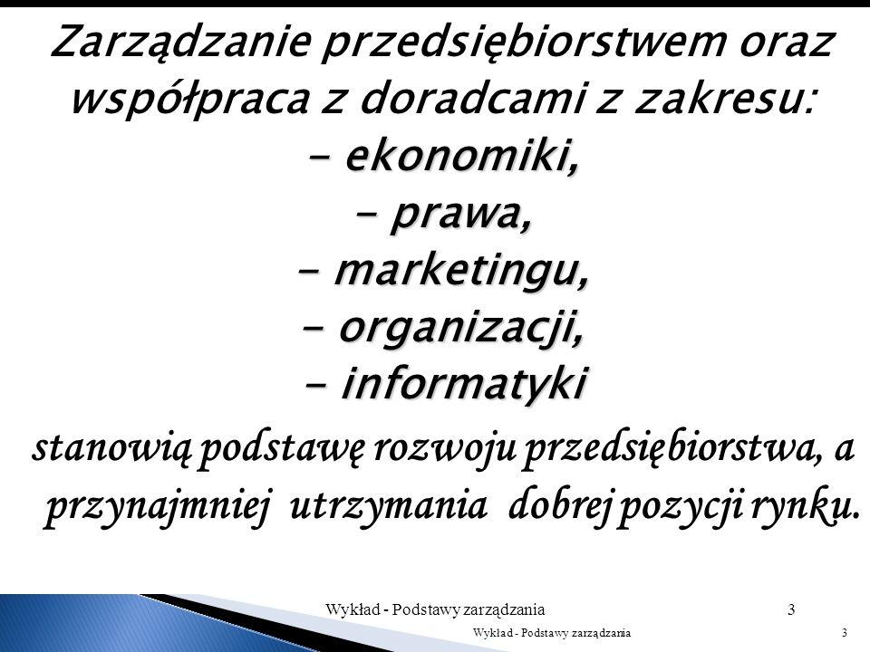 Zarządzanie przedsiębiorstwem oraz współpraca z doradcami z zakresu: