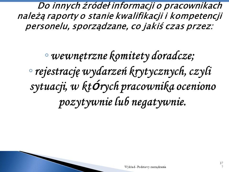 wewnętrzne komitety doradcze;