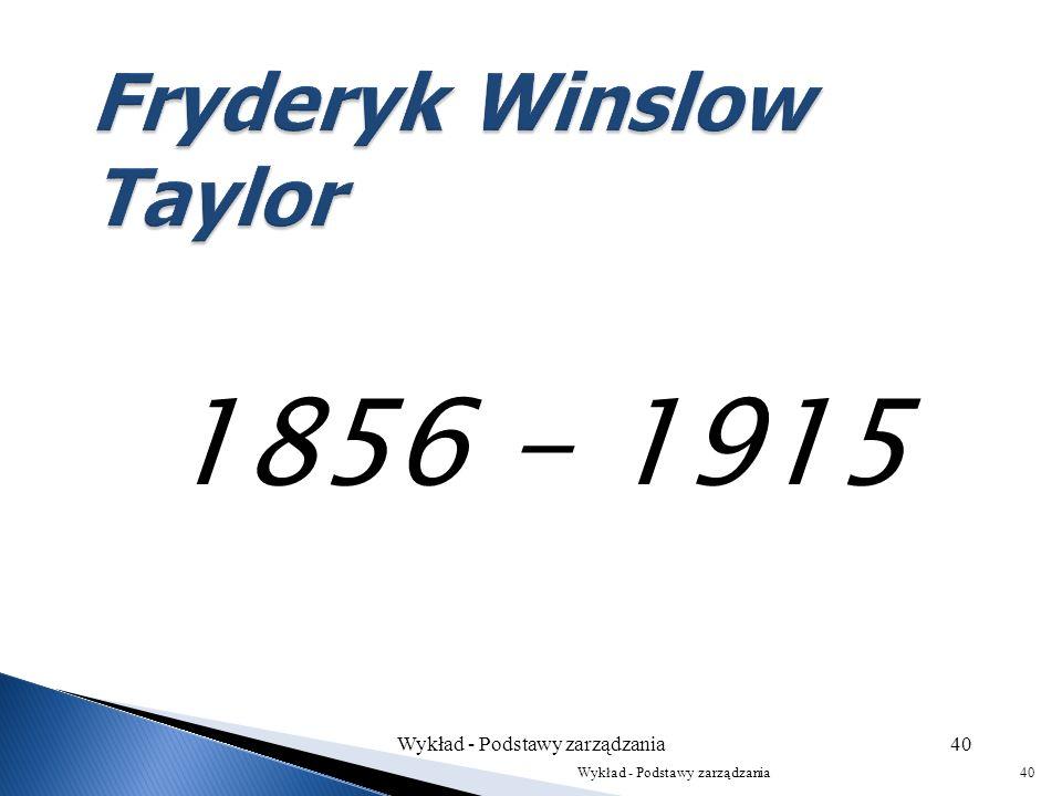 Fryderyk Winslow Taylor