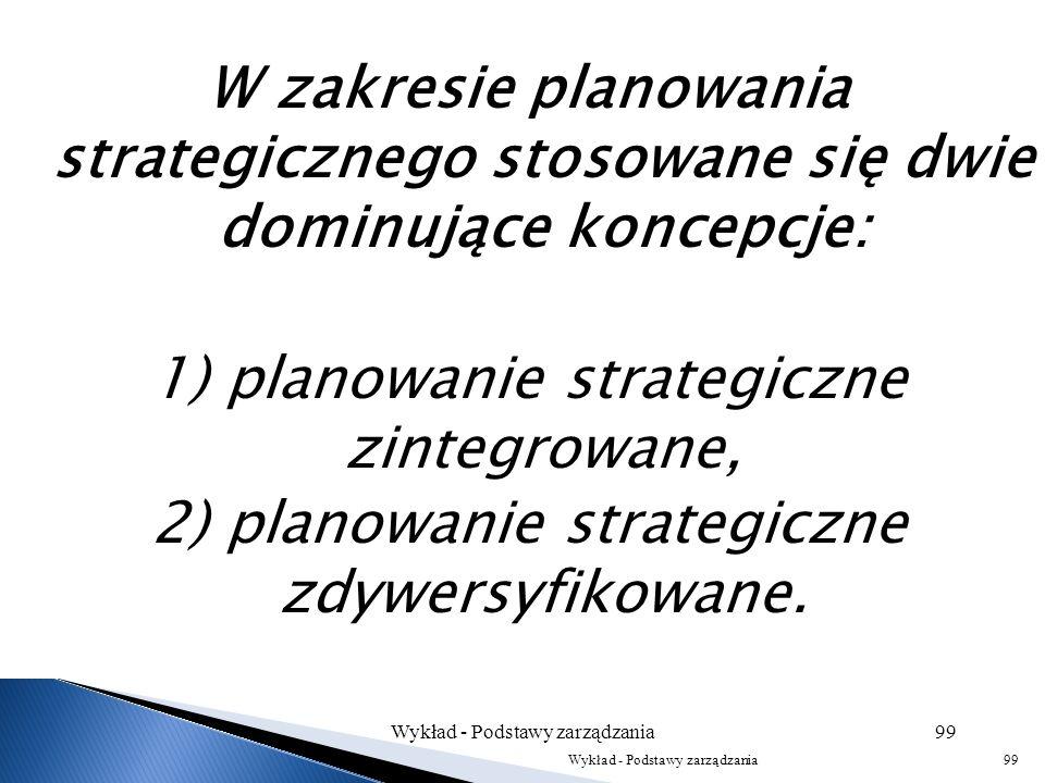 1) planowanie strategiczne zintegrowane,