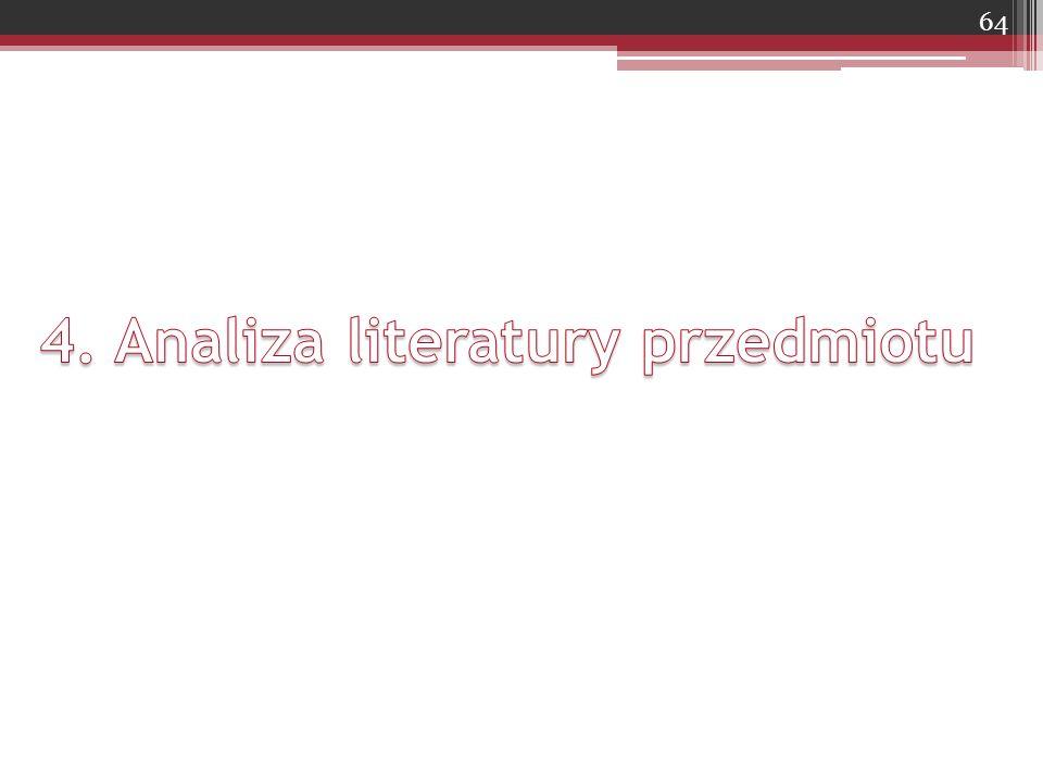 4. Analiza literatury przedmiotu