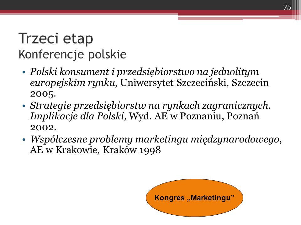 Trzeci etap Konferencje polskie
