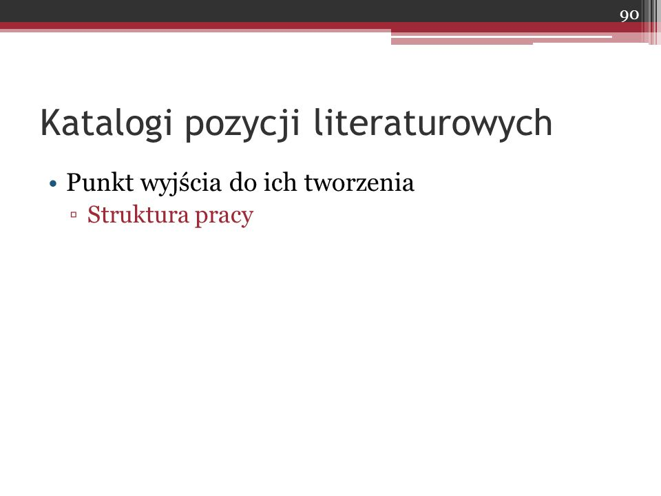 Katalogi pozycji literaturowych