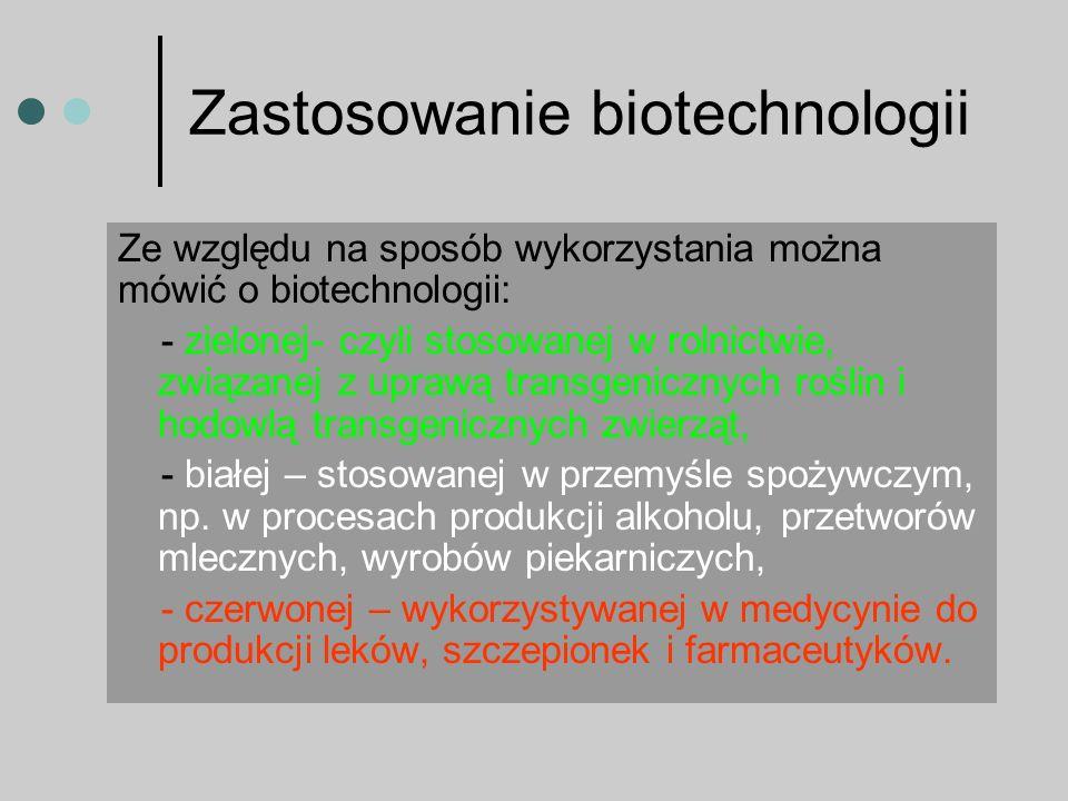 Zastosowanie biotechnologii