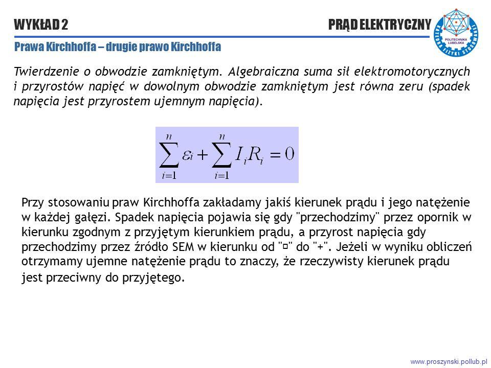 Prawa Kirchhoffa – drugie prawo Kirchhoffa