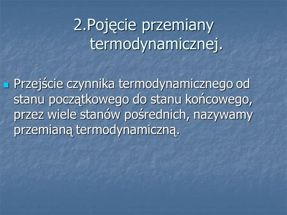 2.Pojęcie przemiany termodynamicznej.