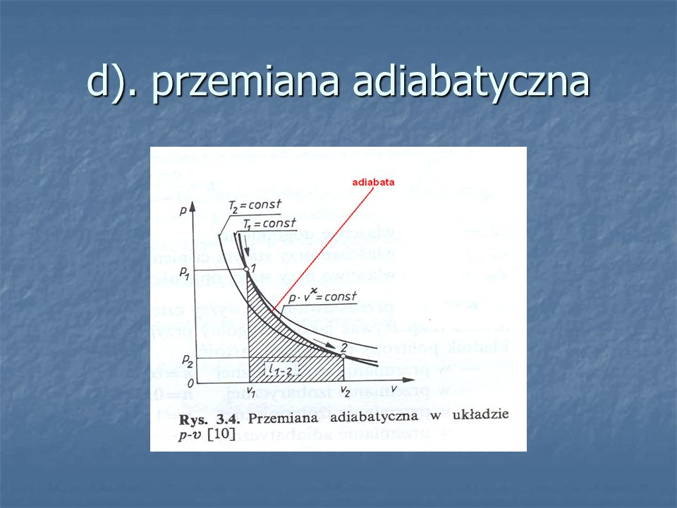 d). przemiana adiabatyczna