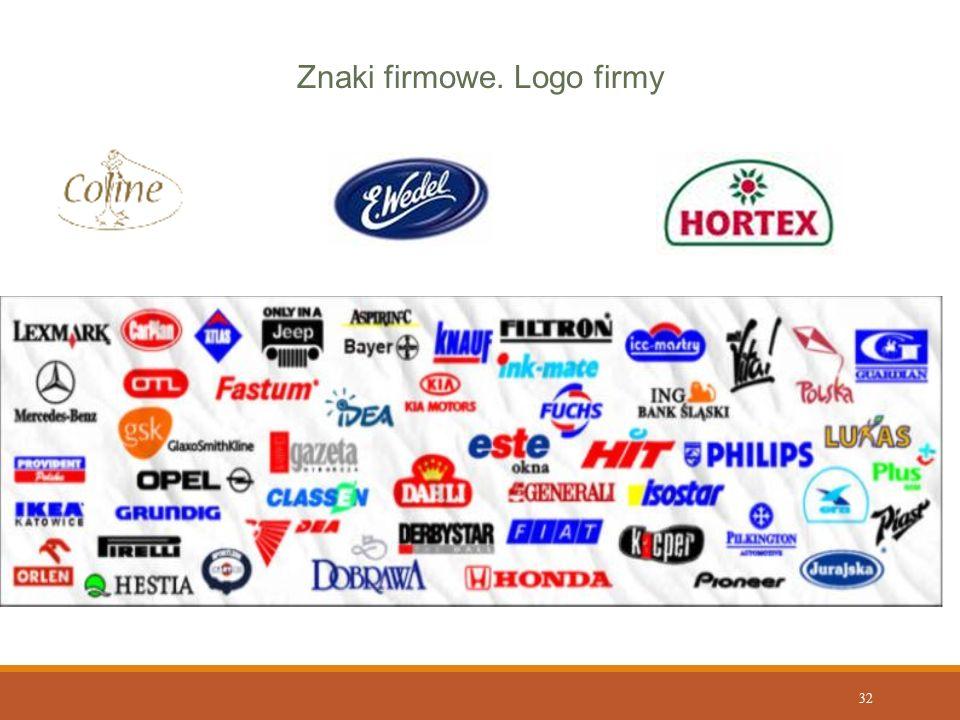 Znaki firmowe. Logo firmy