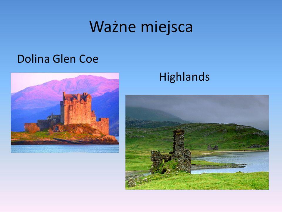 Ważne miejsca Dolina Glen Coe Highlands