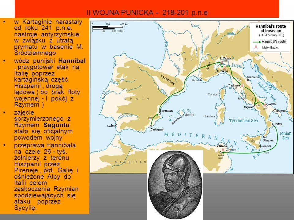 II WOJNA PUNICKA - 218-201 p.n.e