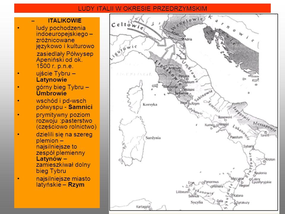 LUDY ITALII W OKRESIE PRZEDRZYMSKIM