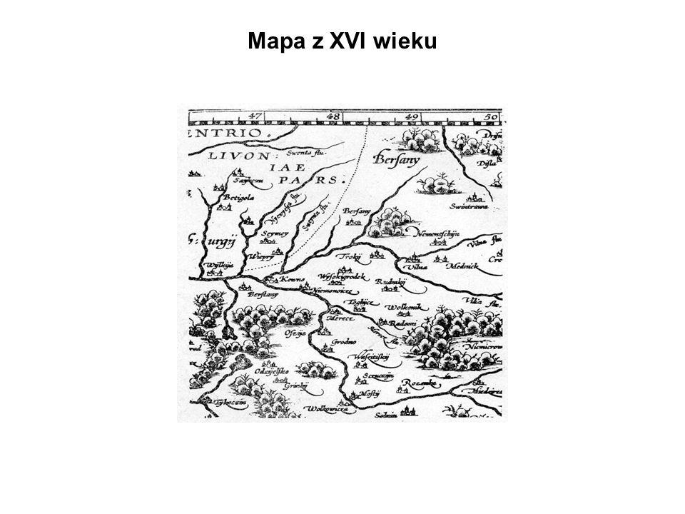 Mapa z XVI wieku