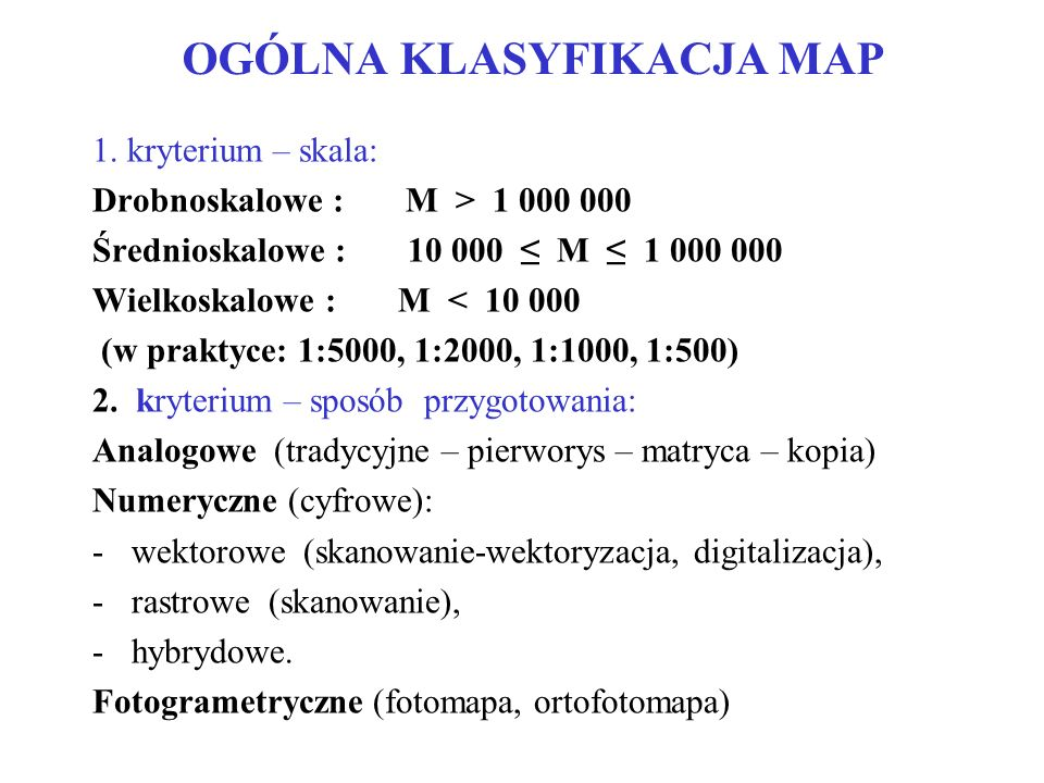 OGÓLNA KLASYFIKACJA MAP