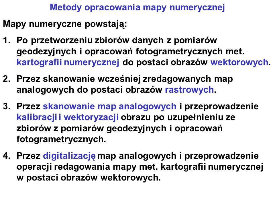 Metody opracowania mapy numerycznej