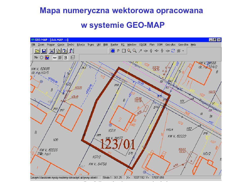 Mapa numeryczna wektorowa opracowana