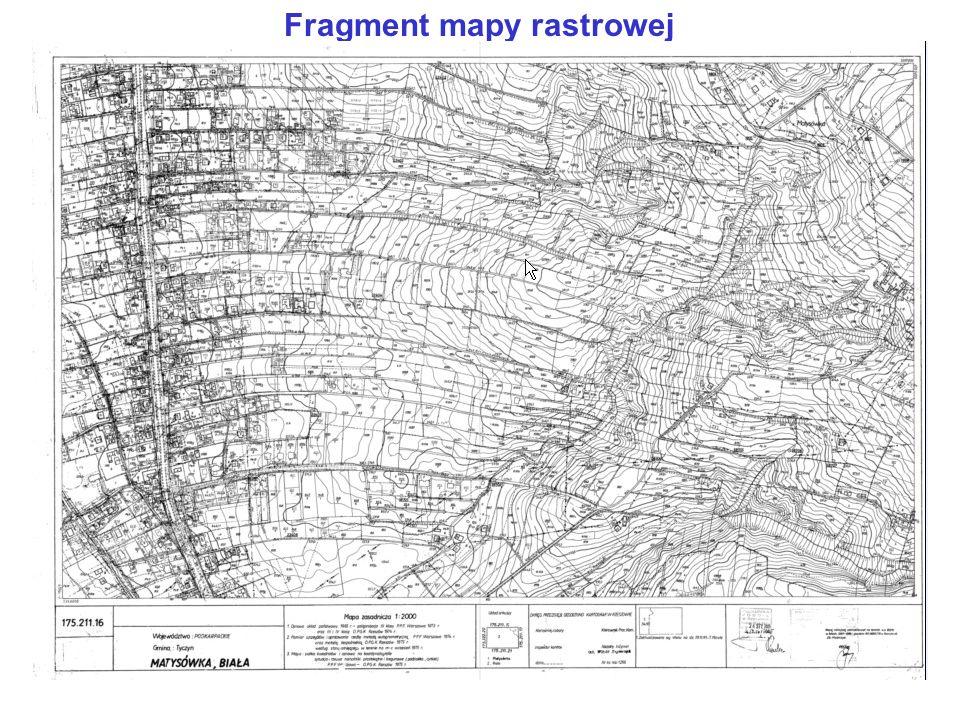 Fragment mapy rastrowej