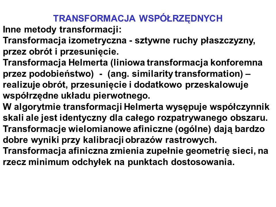 TRANSFORMACJA WSPÓŁRZĘDNYCH
