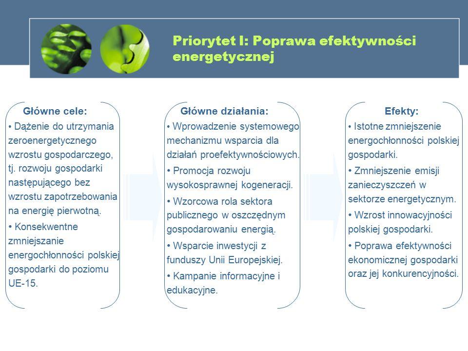 Priorytet I: Poprawa efektywności energetycznej