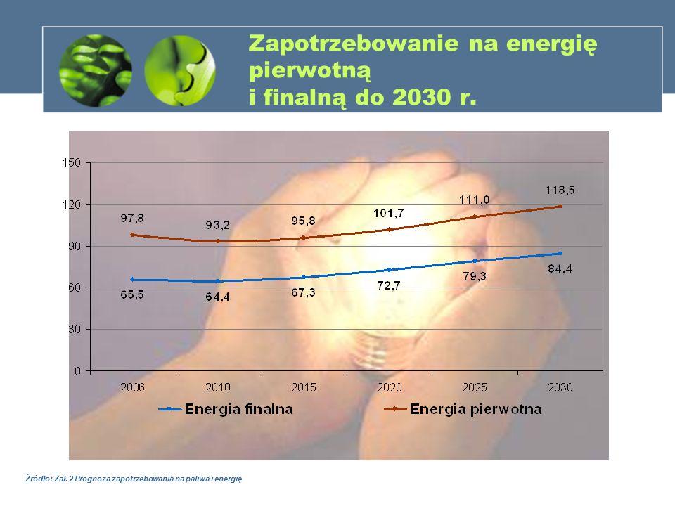 Zapotrzebowanie na energię pierwotną i finalną do 2030 r.