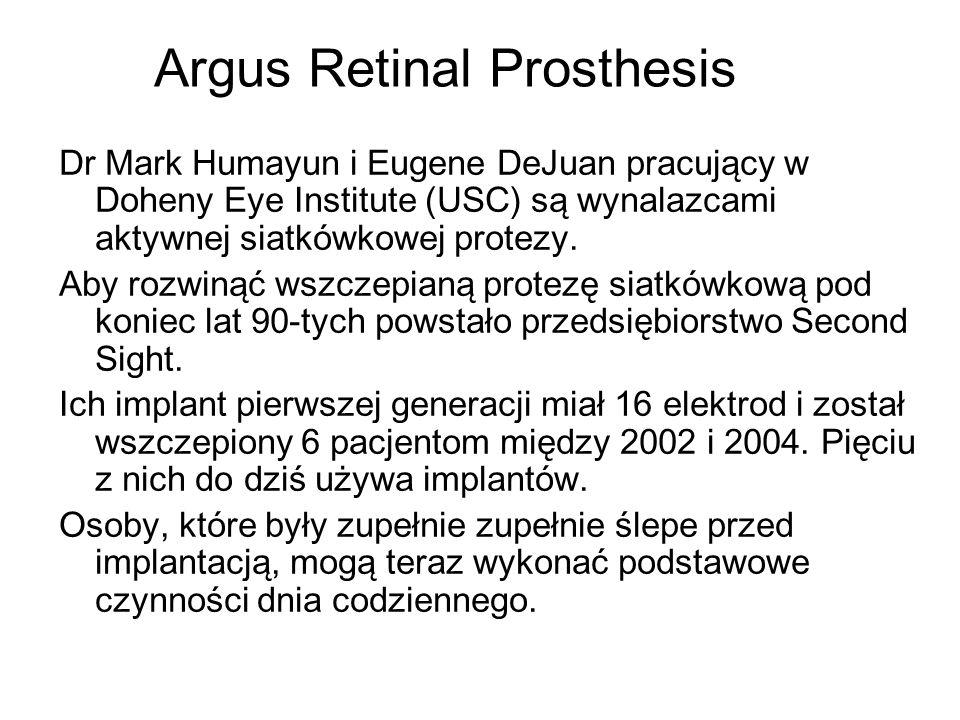 Argus Retinal Prosthesis