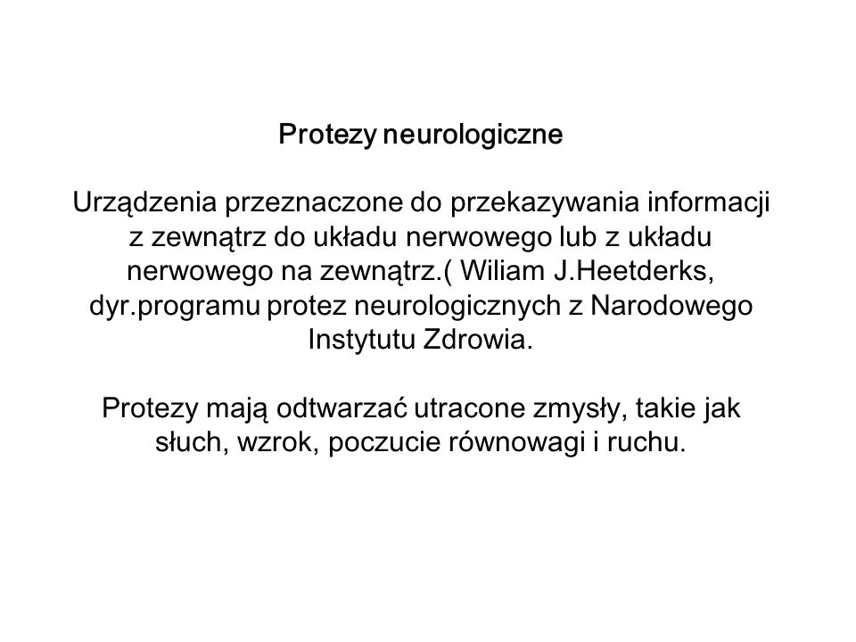 Protezy neurologiczne